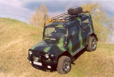 Смотрите также.  Тюнинг военного внедорожника Hummer H1.  Тюнинг по-русски.  Русский тюнинг УАЗа.